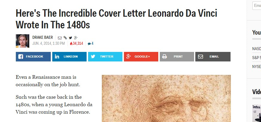 Here's The Incredible Cover Letter Leonardo Da Vinci Wrote In The 1480s