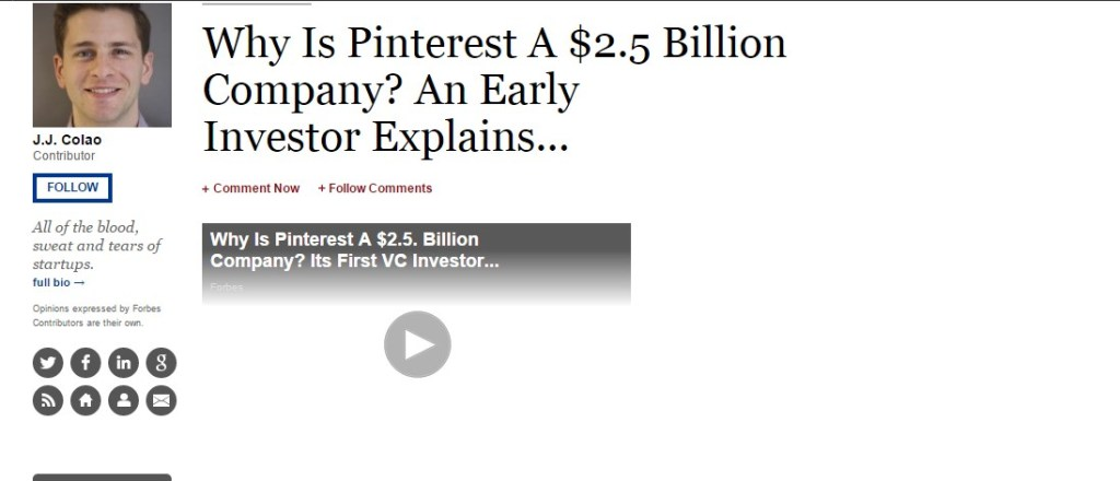 Why Is Pinterest A $2.5 Billion Company? An Early Investor Explains...