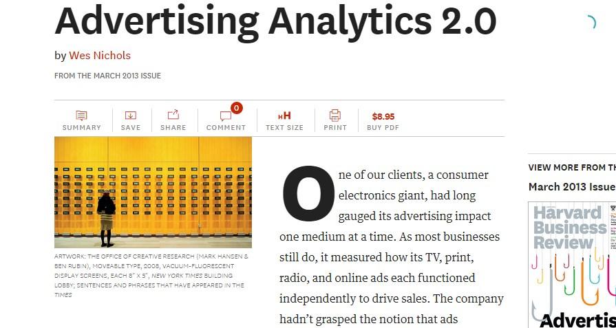 Advertising Analytics 2.0