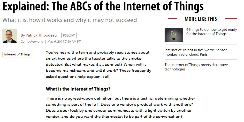 Explained: The ABCs of the Internet of Things