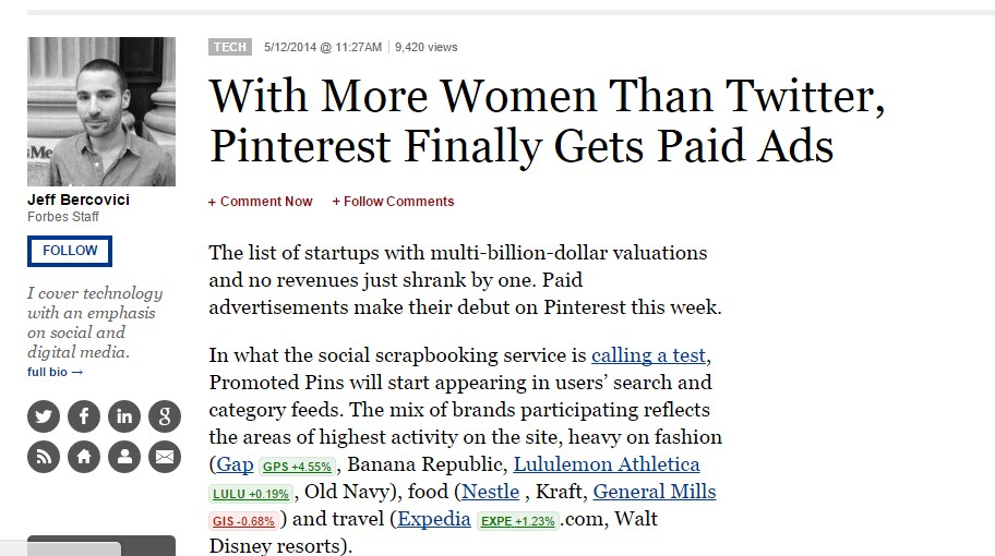 With More Women Than Twitter, Pinterest Finally Gets Paid Ads