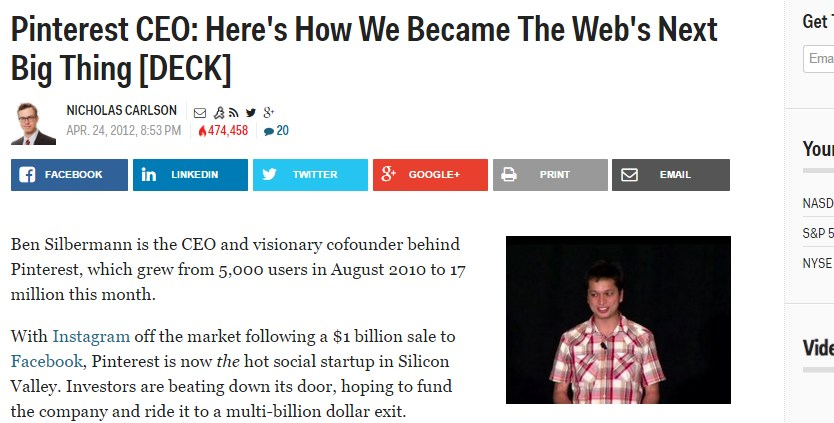 Pinterest CEO: Here's How We Became The Web's Next Big Thing [DECK]