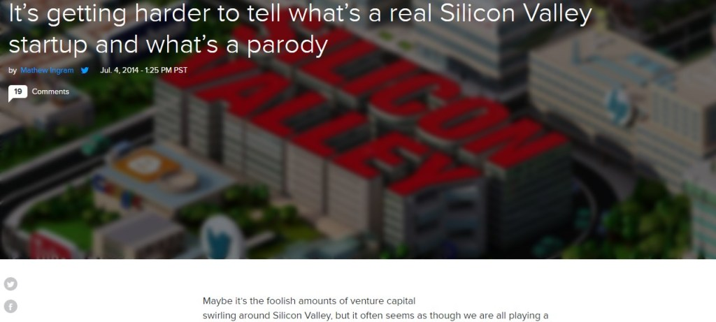 It's getting harder to tell what's a real Silicon Valley startup and what's a parody
