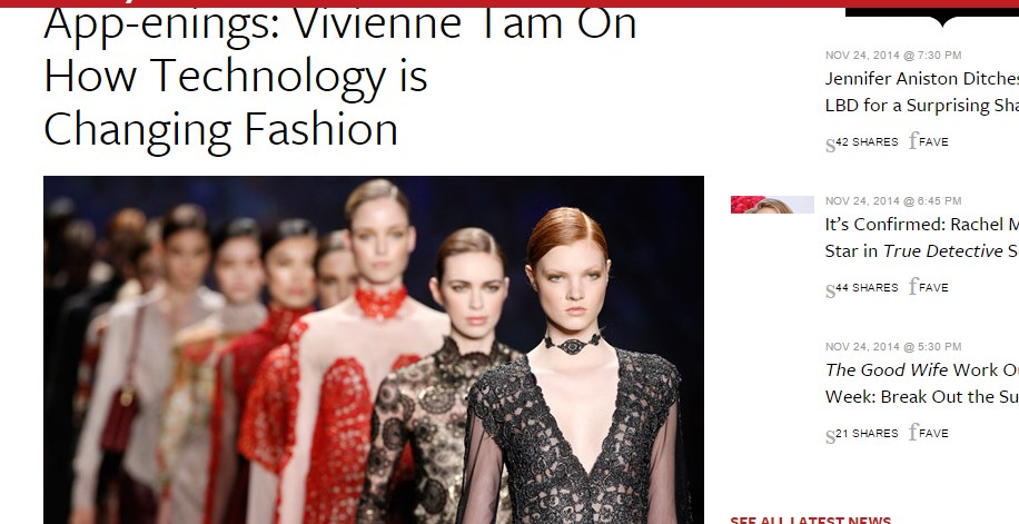 App-enings: Vivienne Tam On How Technology is Changing Fashion