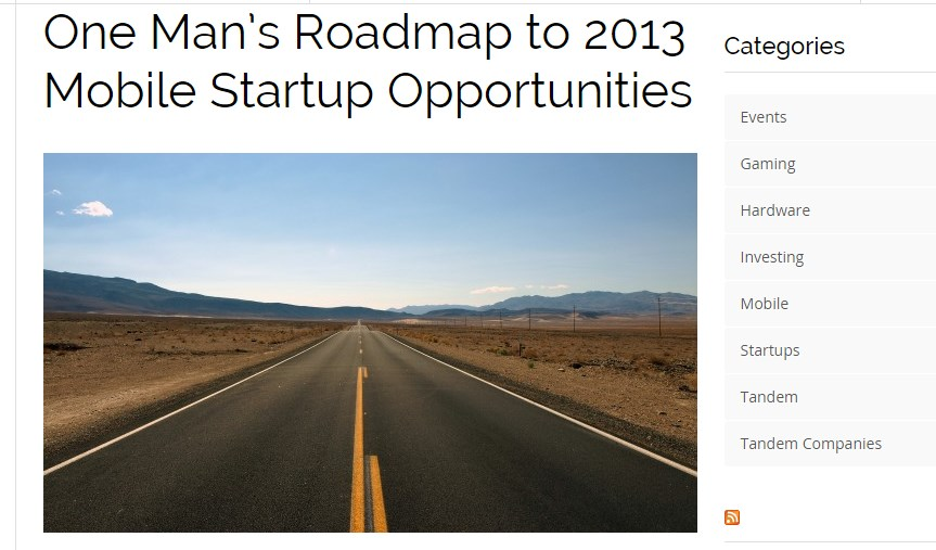 One Man's Roadmap to 2013 Mobile Startup Opportunities