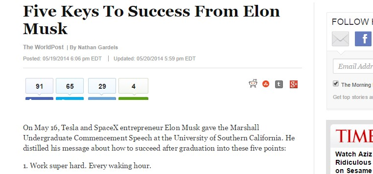 Five Keys To Success From Elon Musk
