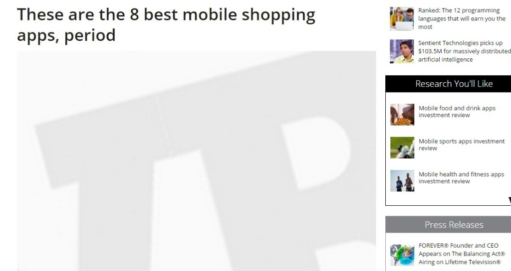 These are the 8 best mobile shopping apps, period