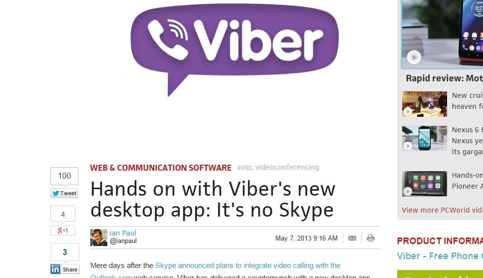 Hands on with Viber's new desktop app: It's no Skype