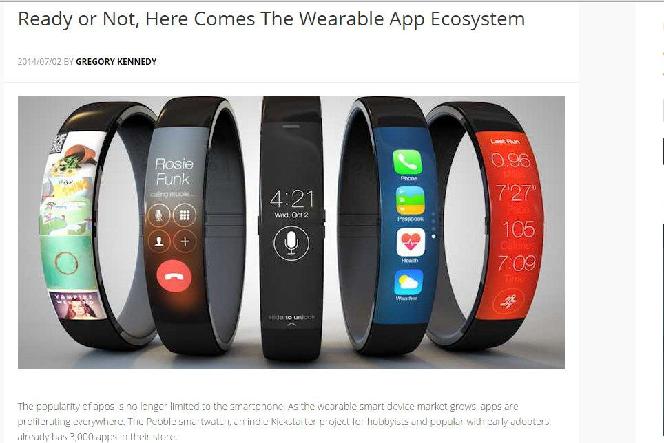 Ready or Not, Here Comes The Wearable App Ecosystem