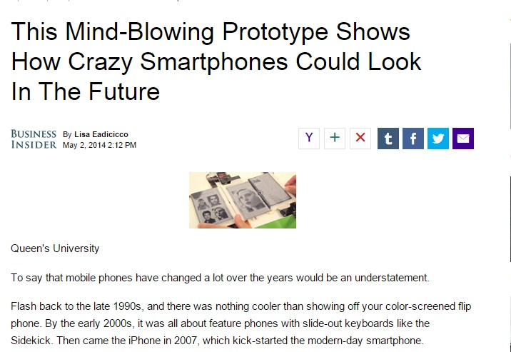 This Mind-Blowing Prototype Shows How Crazy Smartphones Could Look In The Future