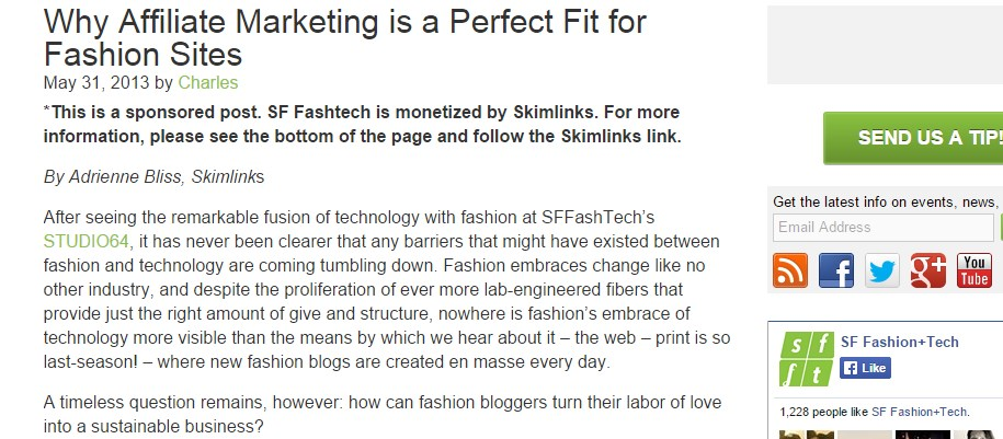 Why Affiliate Marketing is a Perfect Fit for Fashion Sites