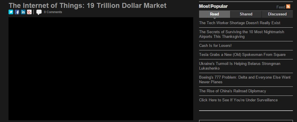 The Internet of Things: 19 Trillion Dollar Market