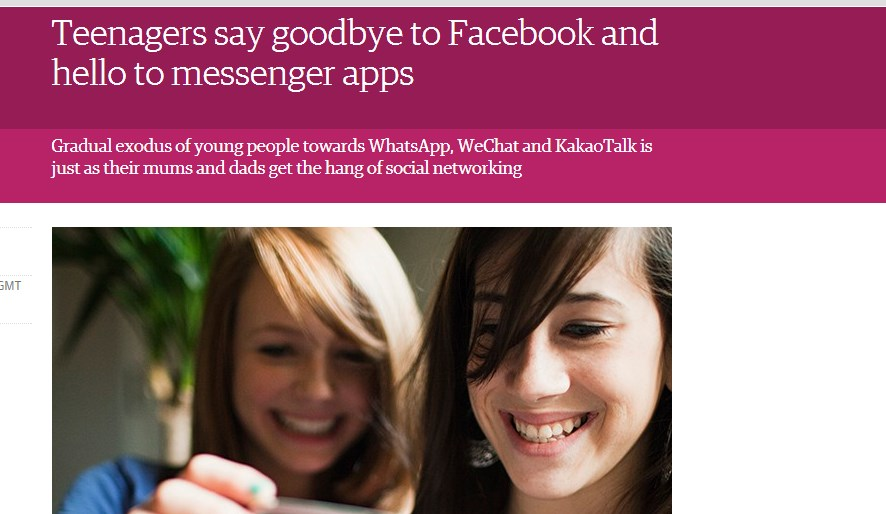 Teenagers say goodbye to Facebook and hello to messenger apps