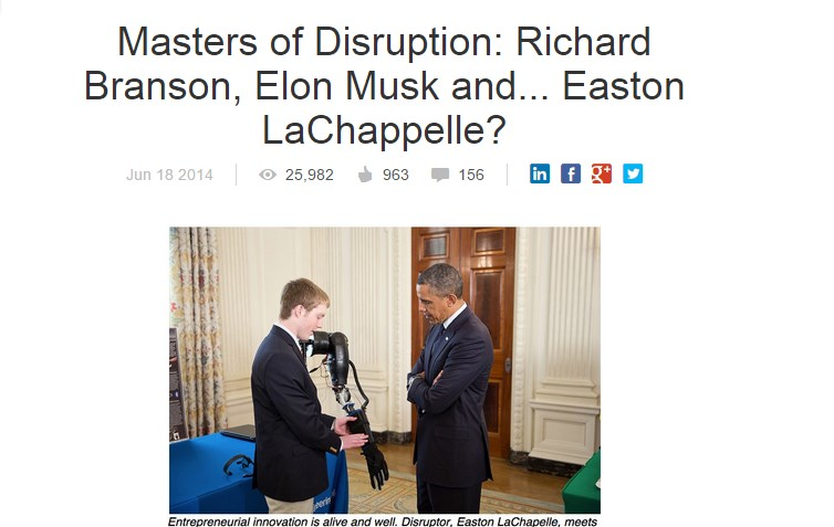 Masters of Disruption: Richard Branson, Elon Musk and... Easton LaChappelle?