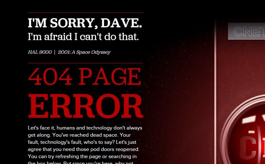 I'M SORRY, DAVE. I'm afraid I can't do that.