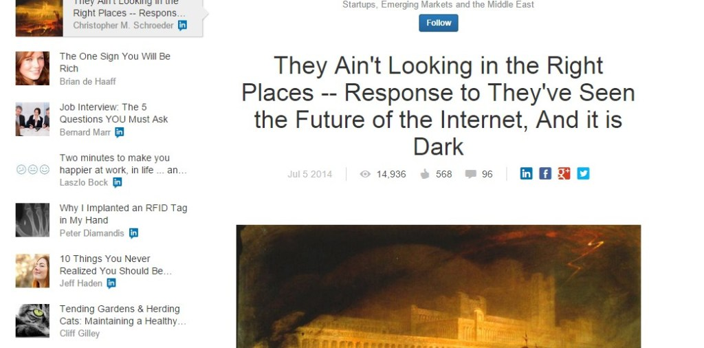 They Ain't Looking in the Right Places -- Response to They've Seen the Future of the Internet, And it is Dark
