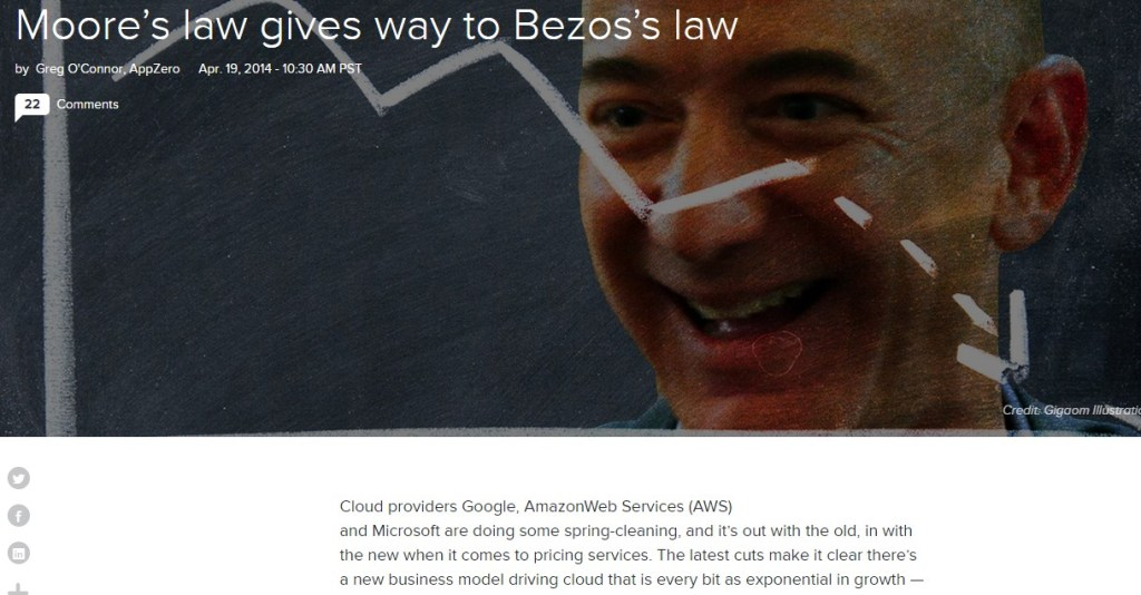 Moore's law gives way to Bezos's law