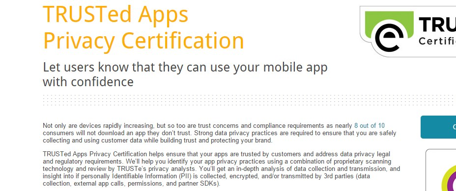 TRUSTed Apps Privacy Certification
