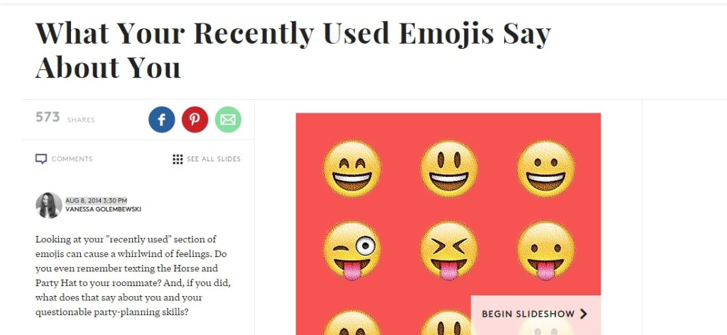 What Your Recently Used Emojis Say About You