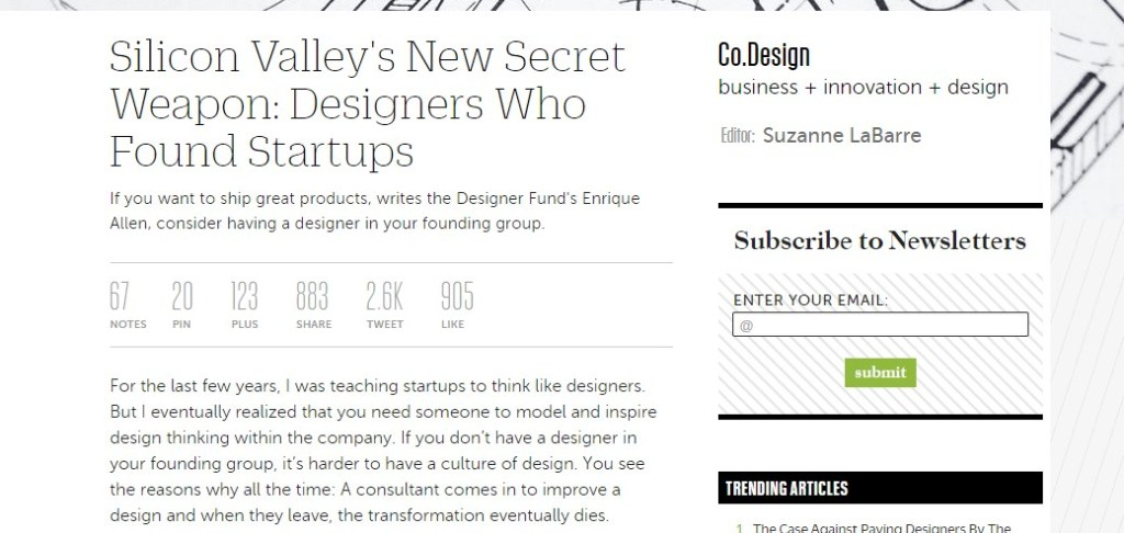 Silicon Valley's New Secret Weapon: Designers Who Found Startups