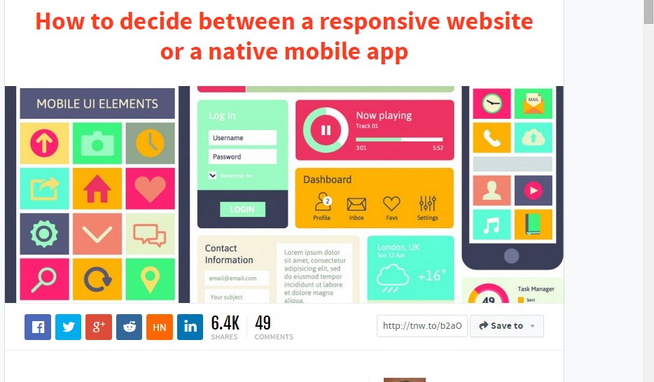 How to decide between a responsive website or a native mobile app