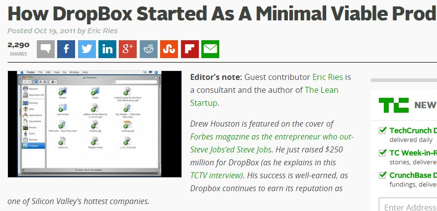 How DropBox Started As A Minimal Viable Product