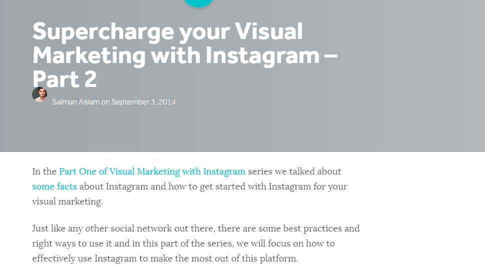 Supercharge your Visual Marketing with Instagram – Part 2