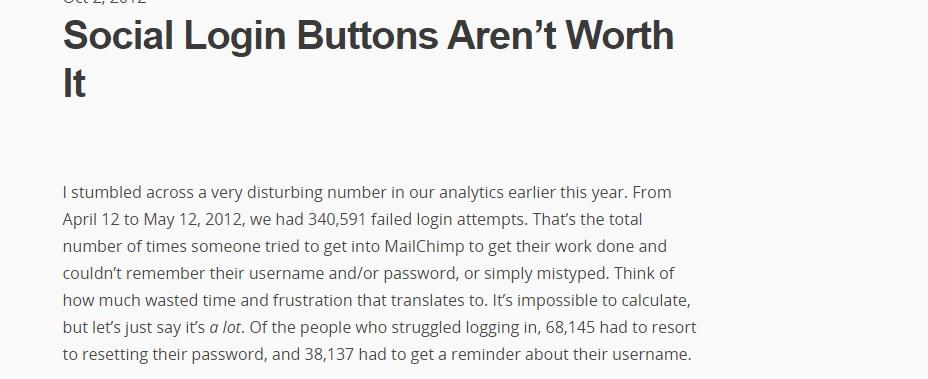 Social Login Buttons Aren't Worth It