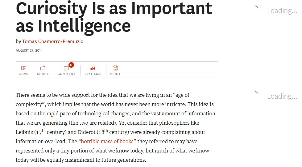 Curiosity Is as Important as Intelligence
