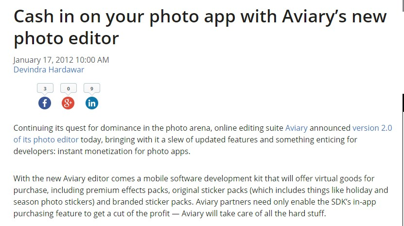Cash in on your photo app with Aviary's new photo editor
