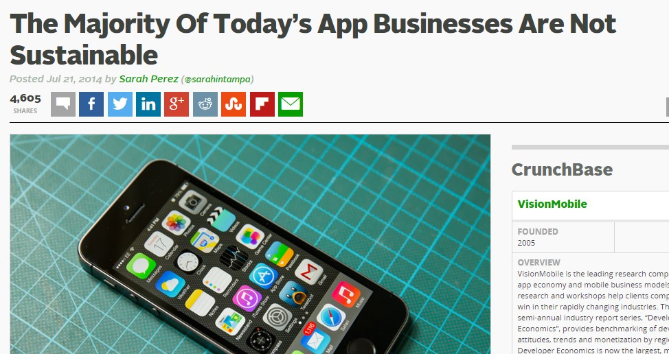 The Majority Of Today's App Businesses Are Not Sustainable
