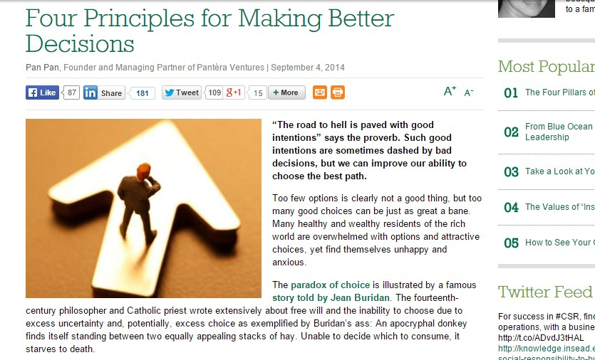 Four Principles for Making Better Decisions