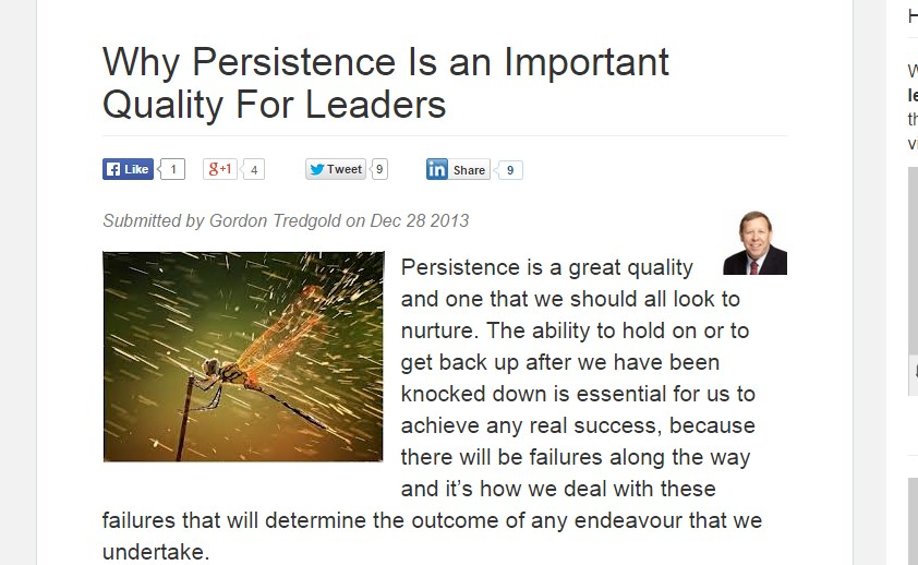 Why Persistence Is an Important Quality For Leaders