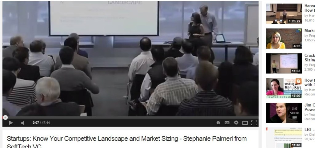 Startups: Know Your Competitive Landscape and Market Sizing - Stephanie Palmeri from SoftTech VC