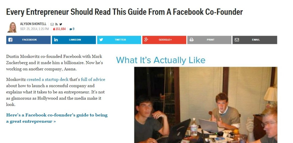 Every Entrepreneur Should Read This Guide From A Facebook Co-Founder