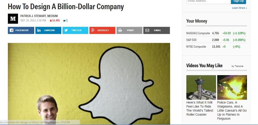 How To Design A Billion-Dollar Company
