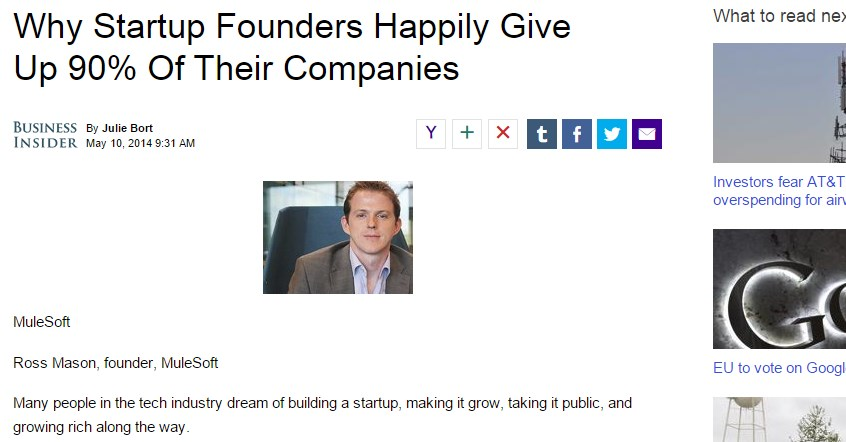 Why Startup Founders Happily Give Up 90% Of Their Companies