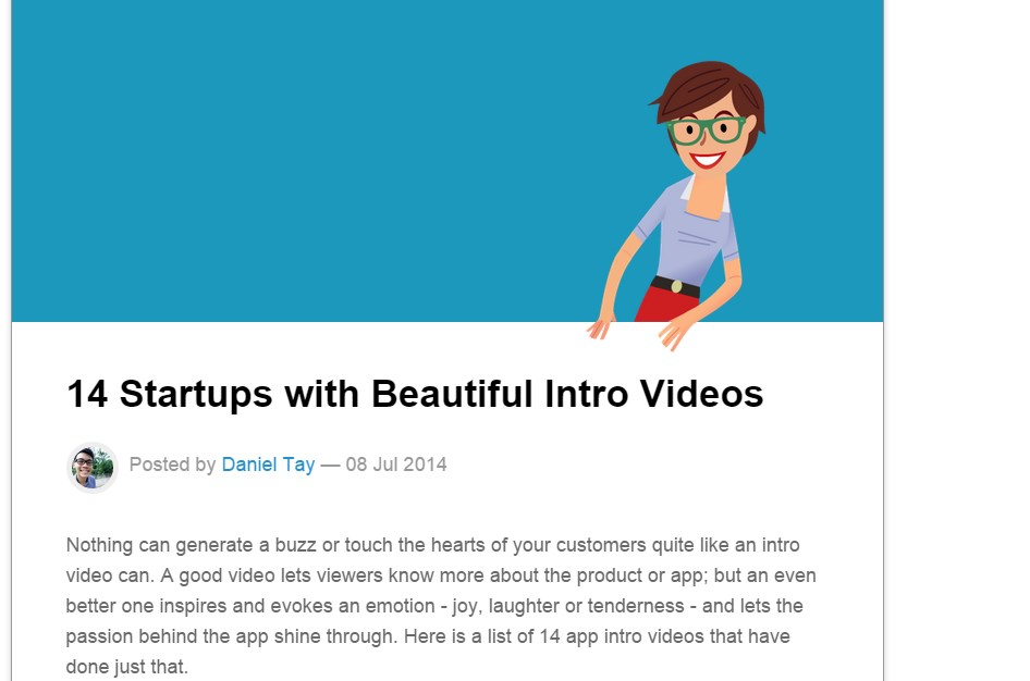 14 Startups with Beautiful Intro Videos