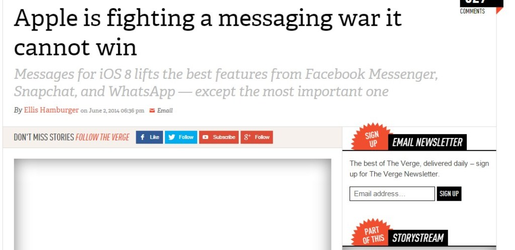 Apple is fighting a messaging war it cannot win