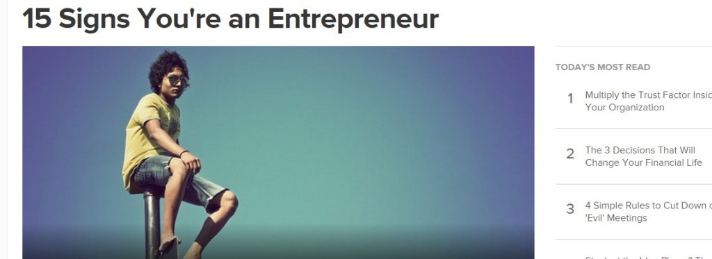 15 Signs You're an Entrepreneur