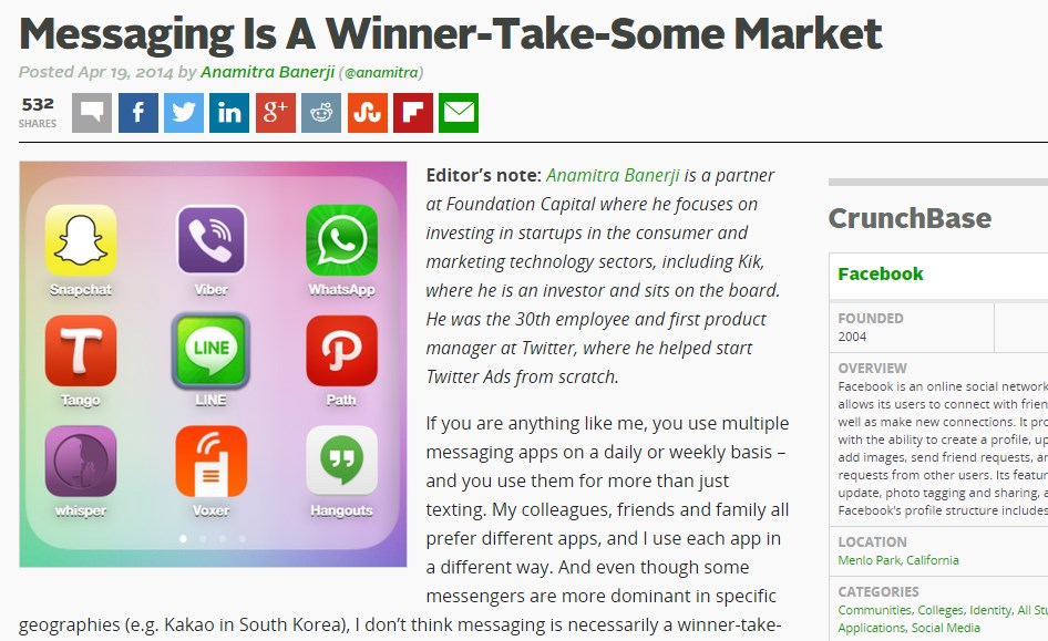 Messaging Is A Winner-Take-Some Market