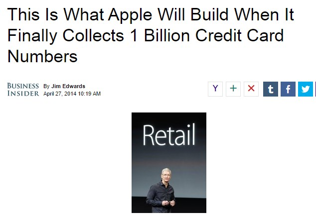 This Is What Apple Will Build When It Finally Collects 1 Billion Credit Card Numbers