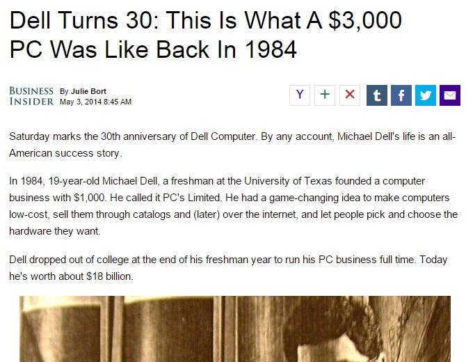 Dell Turns 30: This Is What A $3,000 PC Was Like Back In 1984