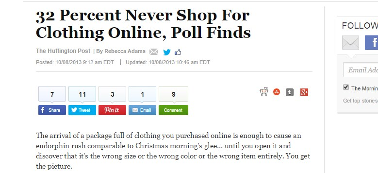 32 Percent Never Shop For Clothing Online, Poll Finds