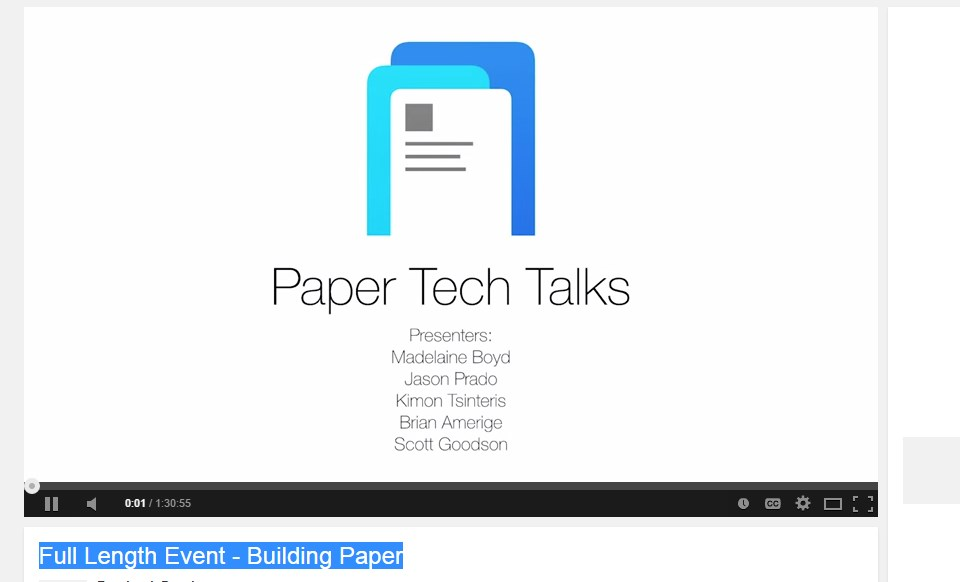 Full Length Event - Building Paper