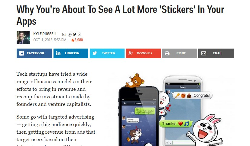 Why You're About To See A Lot More 'Stickers' In Your Apps