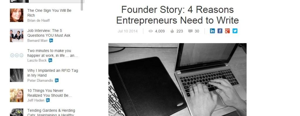 Founder Story: 4 Reasons Entrepreneurs Need to Write