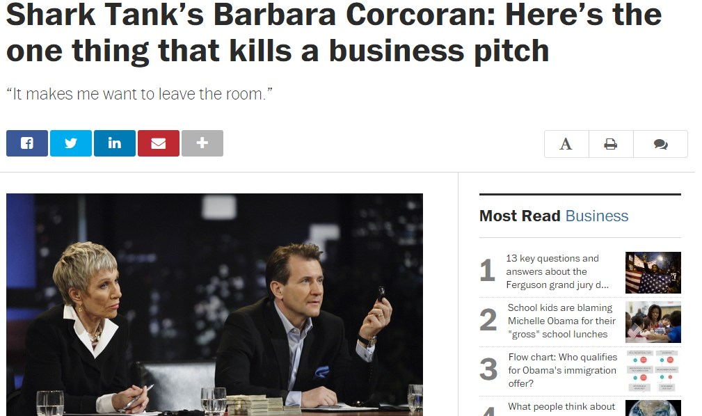 Shark Tank's Barbara Corcoran: Here's the one thing that kills a business pitch
