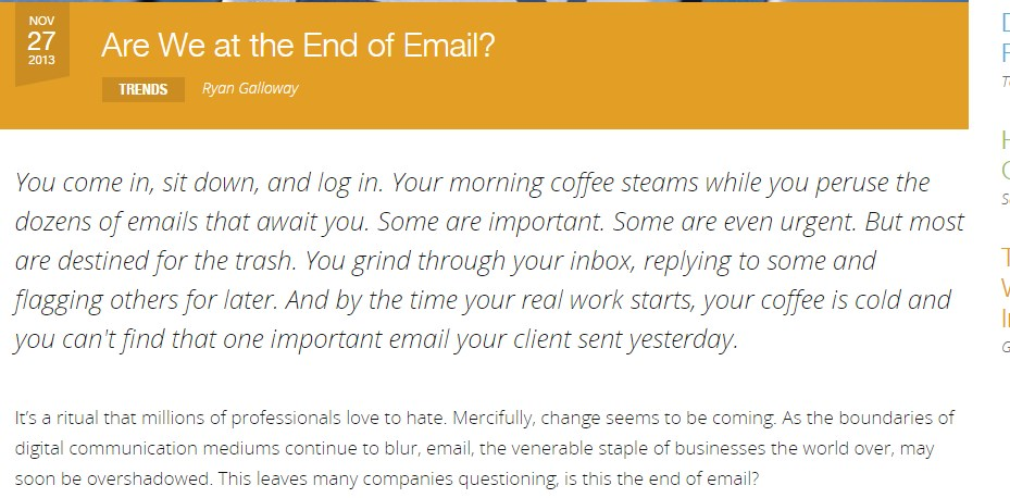 Are We at the End of Email?