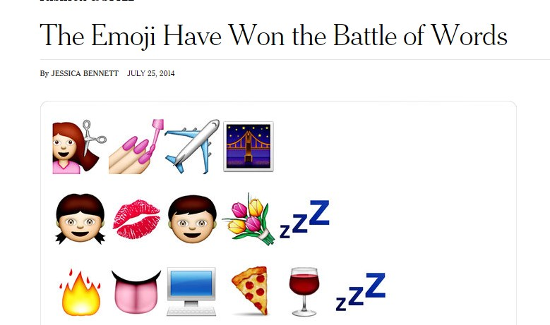 The Emoji Have Won the Battle of Words